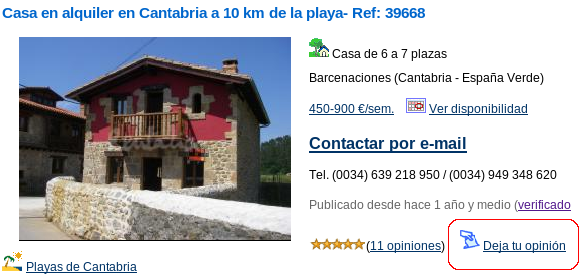 casa rural cantabria rentalia